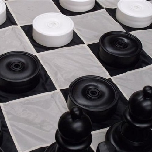 Giant Checkers Set Pieces