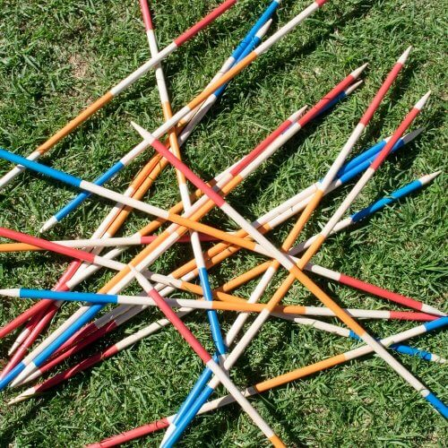 Giant Pick-up-sticks at Actively Inspired