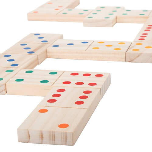 Giant Wooden Dominoes in Colour