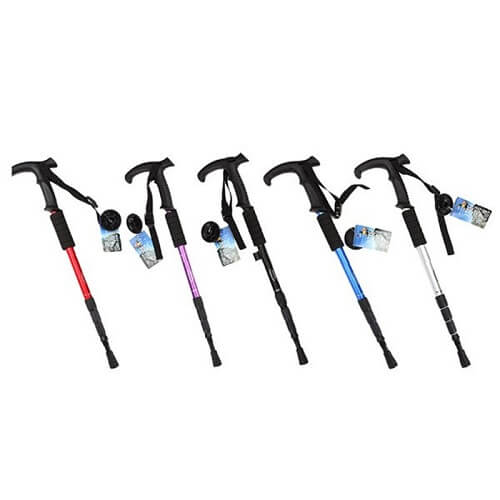 Hiking Trekking Walking Pole Cane Stick Crutch all colours